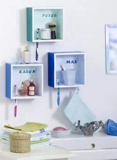 Bathroom cubbies for kids