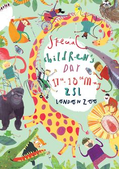 prospective poster for Special Children's Day at London zoo (made whilst listening to The Jungle Book soundtrack hehe)