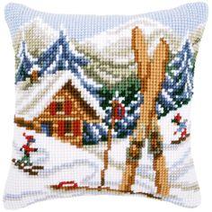"""Snow Fun Cushion Cross Stitch Kit-16""""X16"""""""