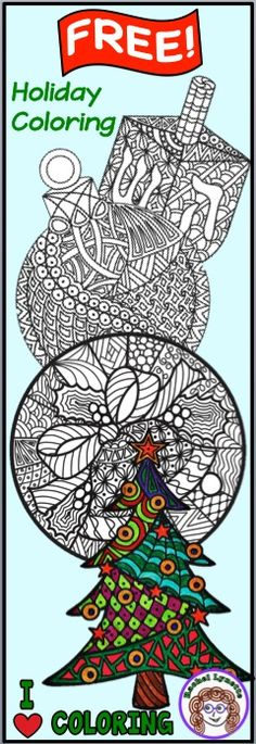 Grab these Free Christmas and Hanukkah Coloring Pages! Perfect for read-aloud, indoor recess, or any time you have a few spare moments.