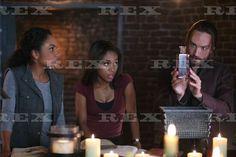 Sleepy Hollow' TV Series - 2014  l-r: Lyndie Greenwood, Nicole Beharie, Tom Mison in 'And the Abyss Gazes Back' (Season 2, Episode 6)  2014