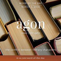 Today's #wordoftheday is 'agon'  .  #language #merriamwebster #dictionary