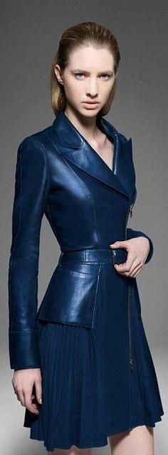 Jitrois 2013-2014 v jitroi 20132014, dress shade, coutur, biker jackets, hot dress, leather jackets, jitrois 2014, coat, eléctrica blue