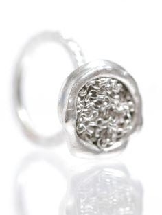 Gathered Ring, Silver.  www.kirstenhendrich.com