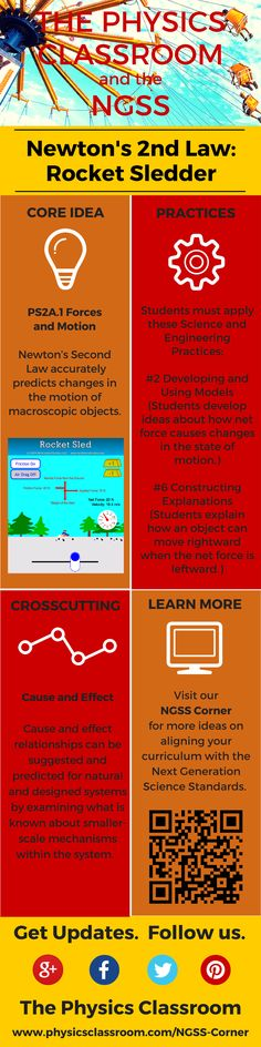 Looking for NGSS alignment in Physics? Try Rocket Sledder. #NGSS #physics
