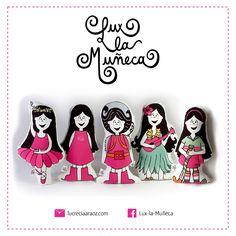 #lux la #muñeca llego a #tucuman en #parapente.  ver mas en : www.lucreciaarao.com #pink #argentina #ilustracion