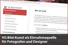 VG Bild-Kunst – Einnahmequelle für Fotografen, Grafiker und Designer - Mehr Infos zum Thema auch unter http://vslink.de/internetmarketing