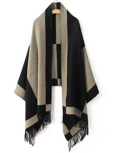 Shop Black Color Block Fringe Scarf online. SheIn offers Black Color Block Fringe Scarf & more to fit your fashionable needs.