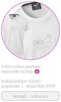 T-shirt ae unique unisex Swarovski color fuchsia buy www.aeunique.com
