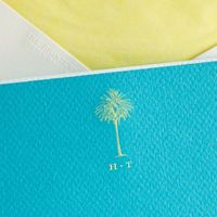 lime and turquoise correspondence cards...yes, please!