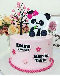 50 Ideias para Festa Panda Panda Birthday Cake, Bolo Panda, Panda Baby Showers, Panda Cakes, Panda Party, Party Buffet, 3rd Birthday Parties, Eat Cake, Cake Toppers