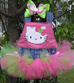 Just a little inspiration ;) <> Hello Kitty Tutu Overall Set <> so cute!!
