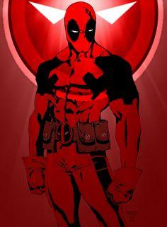 #Deadpool #Fan #Art. (Deadpool colors) By: Sure-Shot626. ÅWESOMENESS!!!™ ÅÅÅ+
