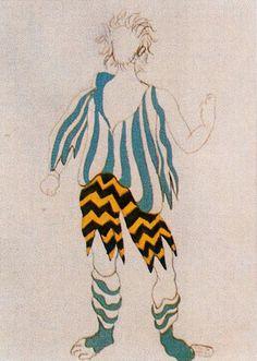 Costume design by Pablo Picasso for Tricorne, 1919