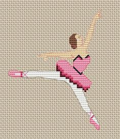 Create this mini ballerina for your next cross stitch project.  Find this and many more free patterns at Craftown.