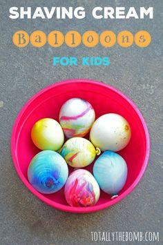 Shaving Cream Balloons for Kids