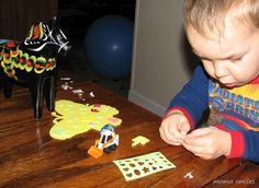 Use stickers to develop fine motor skills!