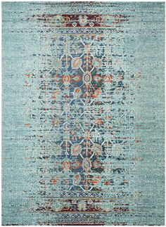Love the colors within this rug.