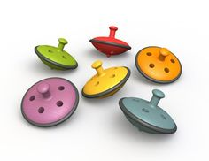 Eco Top, Yellow, 2015 Amazon Top Rated Novelty Spinning Tops #Toy