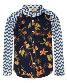Patchwork shirt met speciale inzetstukken op de schouders - Scotch & Soda