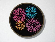 Bring fireworks inside with this PDF pattern. Party!