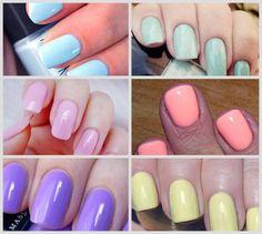 Work Images, Candy Colors, Hair Makeup, Nail Polish, Make Up, Nails, Beauty, Pastel Colors, Carne