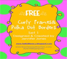 New FREE Whimsical Borders with Curly Frames: Post Revised