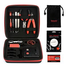 Coil Master Diy Kit V3 With Latest Coil Jig (v4) / 521 Tab Mini Ohm Reader / Tweezers / Organic Cotton / Heat Resistant Wire 100% Authentic Tool Kit Portable Coil Winding Set