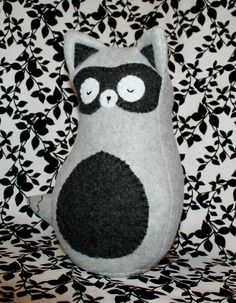 Sleepy Raccoon Plush Woodland Stuffed Animal by RegalCottage, $32.00