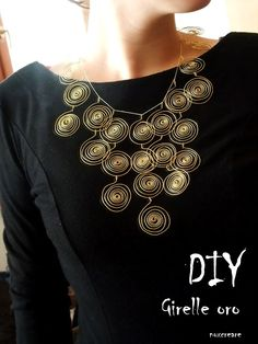 DIY- scroll wire necklace