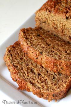 Pumpkin Zucchini Bread - Healthy Version Vegan, Whole-Grain, Pumpkin Zucchini Chia Bread