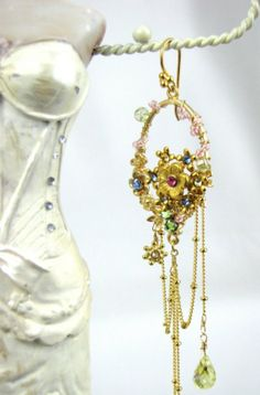 Floral #Chandelier #Earrings 12980 by KathrynandOlivia, $95.00