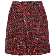 DOLCE & GABBANA Knitted skirt (22.940 RUB) ❤ liked on Polyvore featuring skirts, dolce gabbana skirts, dolce&gabbana and red skirt