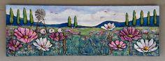 Country love ♥ Cosmos wildflowers #janetsart #janetbesterart #country #countrylove #cosmosflowers #flowers #paintingflowers #countryscene #wildflowers Cosmos Flowers, Country Scenes, Wildflowers, Art Drawings, Painting, Painting Art, Paintings, Painted Canvas, Drawings