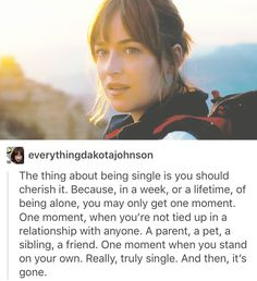 "Truth! Quote from the movie ""how to be single."""