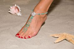 Foot Jewelry instead of shoes for the beach :-)