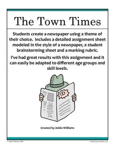 FREE Newspaper Writing Activity - have students practice expository writing as they create a themed newspaper.
