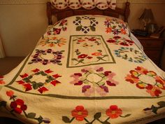 """Pam Bono """"Out of the Darkness"""" Block of the Month quilt."""