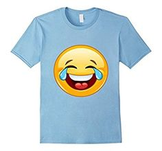 Laughing Crying With Tears Emoji Funny Cute Laugh T-Shirt Buy it here: https://www.amazon.com/product/dp/B01BIHEQKS #emoji #laugh #lol #tshirt