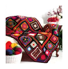 Vintage Crochet Pattern 1970s Granny Square от 2ndlookvintage