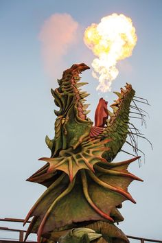 Anton Pieck, Dragon's Lair, Amusement Park, Fantasy World, Mythical Creatures, Sculpting, Wallpapers, Statue, Photography
