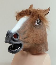 Horse Mask Brown