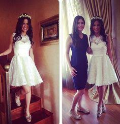 Gelin -evden çıkarma kıyafeti- short lace dress-dantel kısa elbise-beyazwhite Harika bir düğün aşık oldum! Davetiye modelleri-renkleri-konsept- wedding invitation-gifs/ özel davetiye A 46 organizasyon-wedding table-devoration Ciragan sarayi in istanbul- turkiye - turkey -turkish wedding - class- elegant- gelin damat- wedding details- bride-groom/- bridal- çırağan palace- in Turkey- aslıhanmete