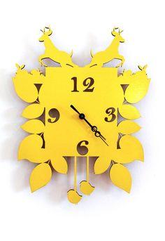 Modern Cuckoo Clock by Snowfawn Homewares $145