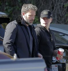 Ben Affleck & Matt Damon from The Big Picture: Today's Hot Pics Dynamic duo! The old friends are spotted stopping by a studio in Los Angeles. Matt Damon, Ben Affleck, Executive Producer, Big Picture, Hottest Photos, Superman, Riding Helmets, Captain Hat, Actors