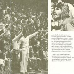 Pt. 2 of Fans and the combination ticket package 1974-75. From the 1975 Oregana (University of Oregon yearbook). www.CampusAttic.com