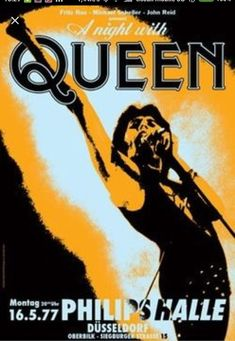 QUEEN - Dusseldorf,Germany - 16 may 1977 - artistic concert poster Tour Posters, Band Posters, Music Posters, Rock Roll, Vintage Concert Posters, Retro Posters, Queen Poster, Concert Flyer, Queen Photos