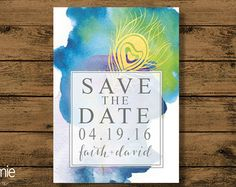 Save the Date State Destination Wedding by bonhomieDESIGN