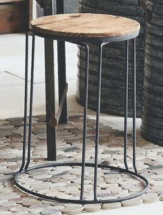 Roost Reclaimed Wood Stacking Stool/Side Table, Set/2