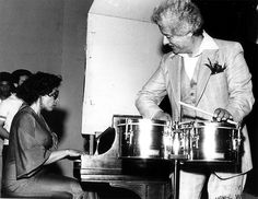 Valerie Capers with Tito Puente. Hear her live with the Valerie Capers Trio this Friday, November 14th in Roscoe's Room.